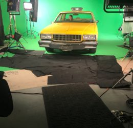 green screen, cab, taxi, video production